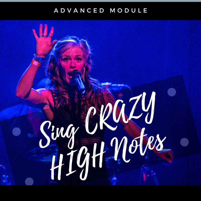 I bet you can get higher than you ever thought possible!  Let's go for some high notes.  Not just high notes, but crazy high notes! When you can sing high notes, the audience gets LOUD!