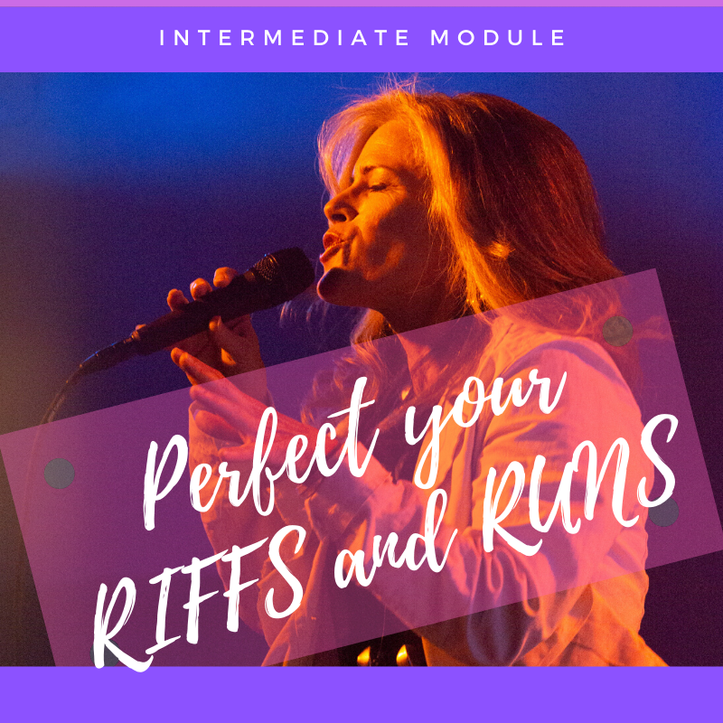 Riffs and runs are part of the vocabulary of a professional singer's language, and you have to speak it correctly!  This module shows you how to perfect your embellishments, so you can replicate your favorite ones or throw them out on the fly like they're no big deal.